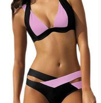 Cotton Fashion  Bikini  (Pink -S) NHHL0008-Pink -S