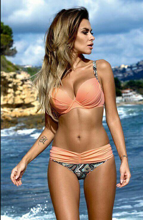 Polyester Fashion  Bikini  (Pink -S) NHHL0011-Pink -S