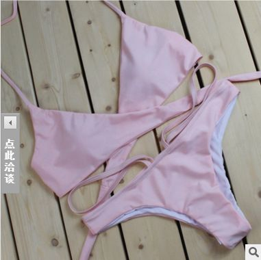 Polyester Fashion  Bikini  (Pink -S) NHHL0014-Pink -S