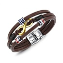 TitaniumStainless Steel Fashion Geometric bracelet  Leather bracelet NHOP1665Leather bracelet