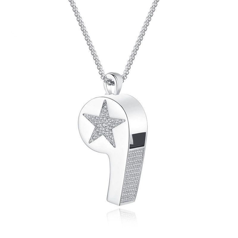 Copper Simple Geometric necklace  (Platinum-15D17) NHTM0214-Platinum-15D17