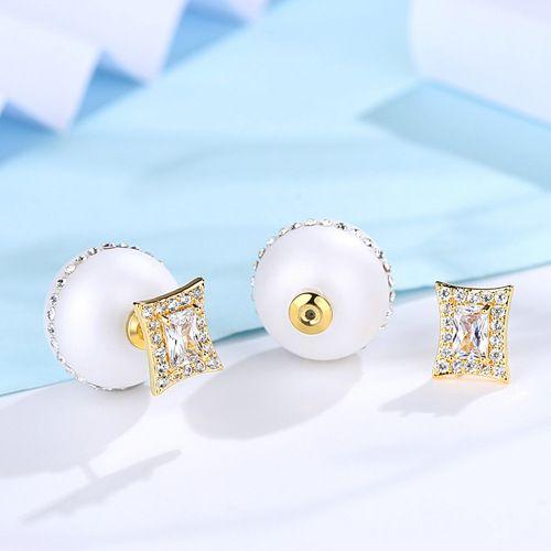 Alloy Korea Geometric earring  (White -04E11) NHTM0225-White-04E11