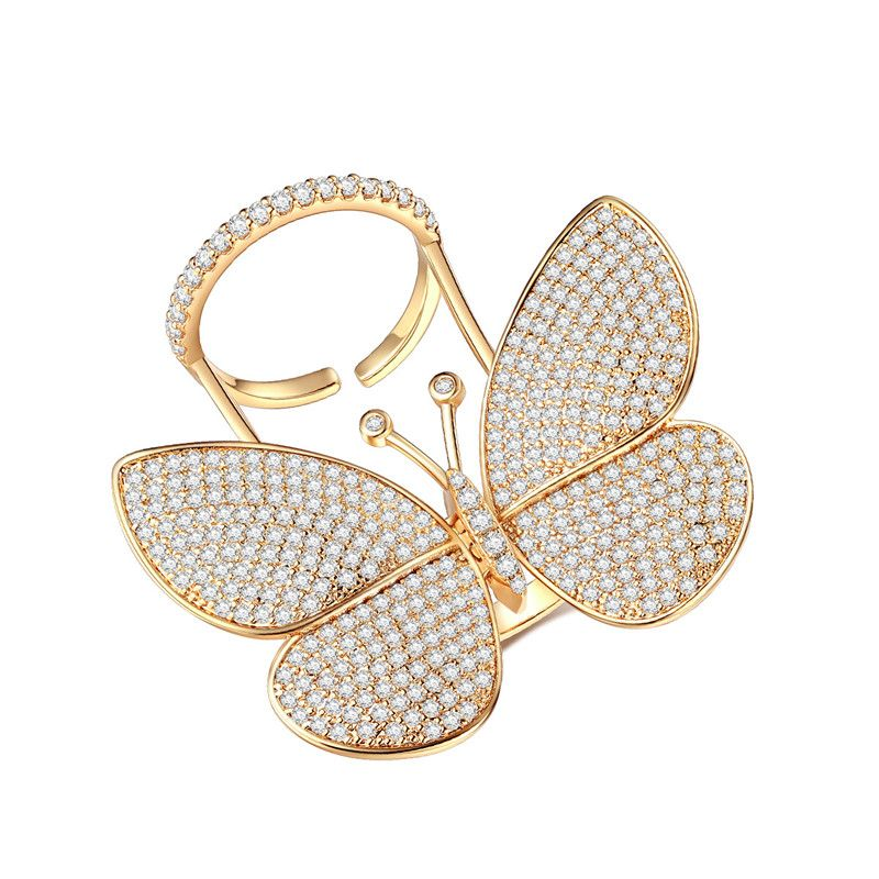 Alloy Fashion Animal Ring  (Platinum-23E02) NHTM0242-Platinum-23E02