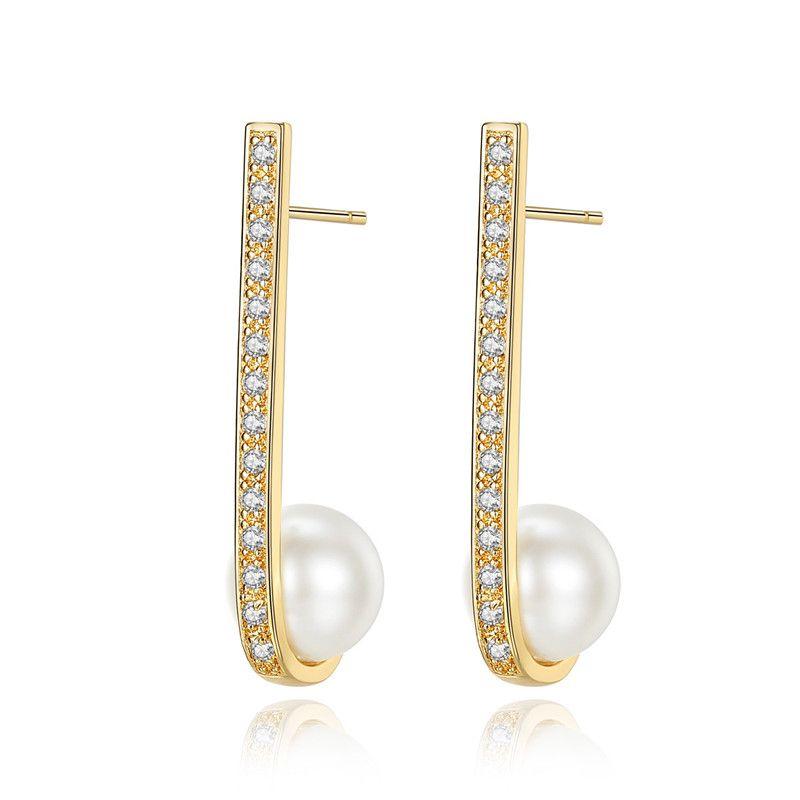 Alloy Korea Geometric earring  platinum NHTM0246platinum