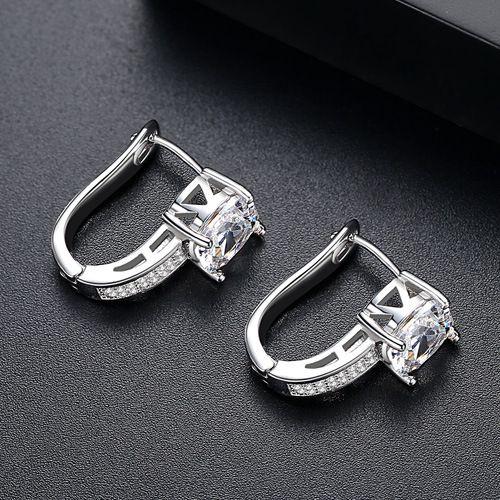 Alloy Fashion Geometric earring  (White Zirconium-03E08) NHTM0251-White-Zirconium-03E08