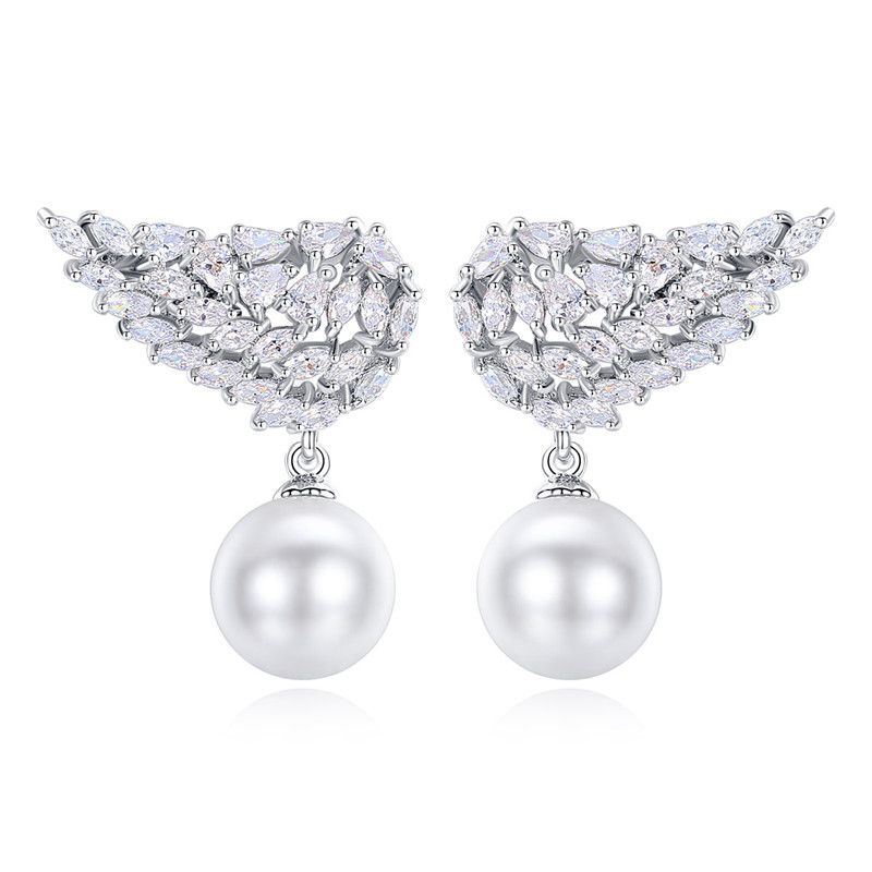 Alloy Korea Geometric earring  (Platinum-08G14) NHTM0255-Platinum-08G14