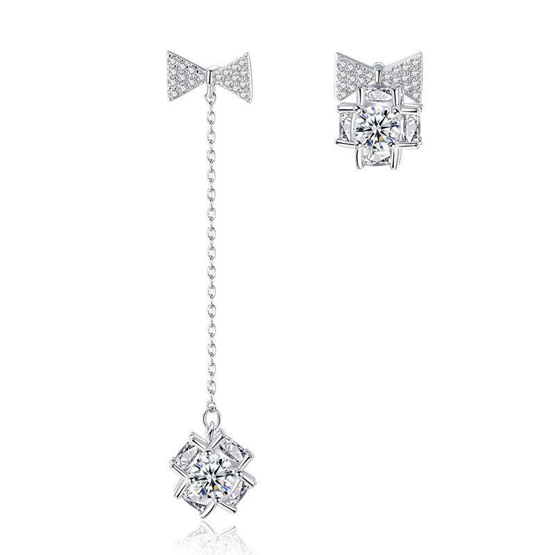Alloy Korea Geometric earring  (Platinum -05G12) NHTM0261-Platinum-05G12