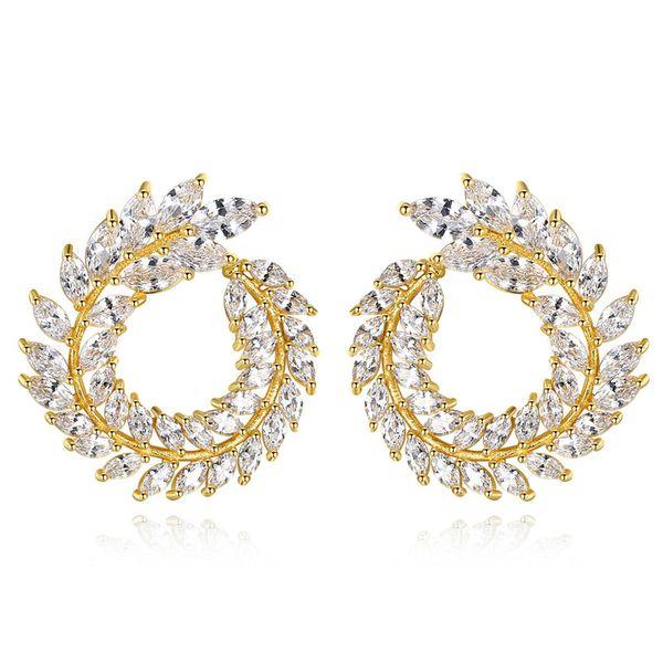 Alloy Fashion Geometric earring  (18k-07B15) NHTM0270-18k-07B15