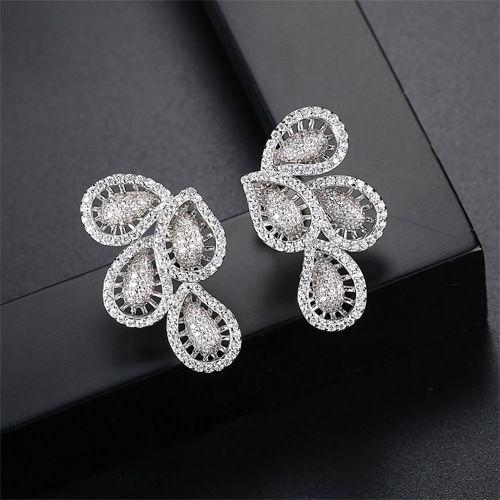 Alloy Korea Geometric earring  Platinum 05E15 NHTM0279Platinum05E15
