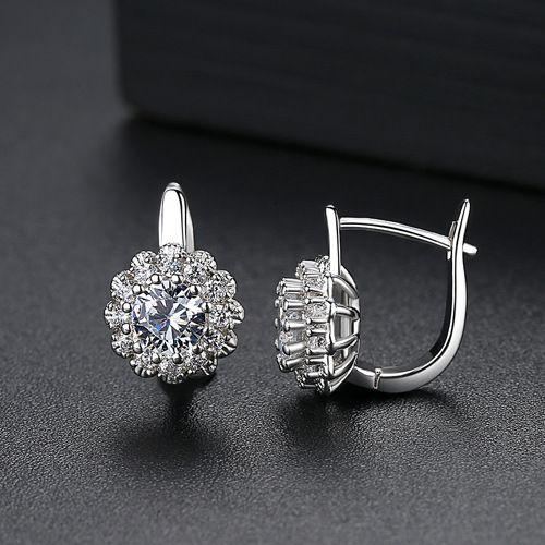Alloy Fashion Geometric earring  (Platinum-07B14) NHTM0282-Platinum-07B14