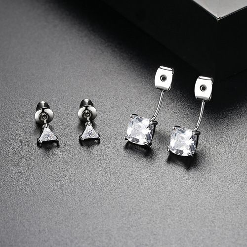 Alloy Korea Geometric earring  (White-05E14) NHTM0306-White-05E14