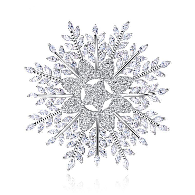 Alloy Simple Geometric brooch  (Platinum-20E01) NHTM0307-Platinum-20E01