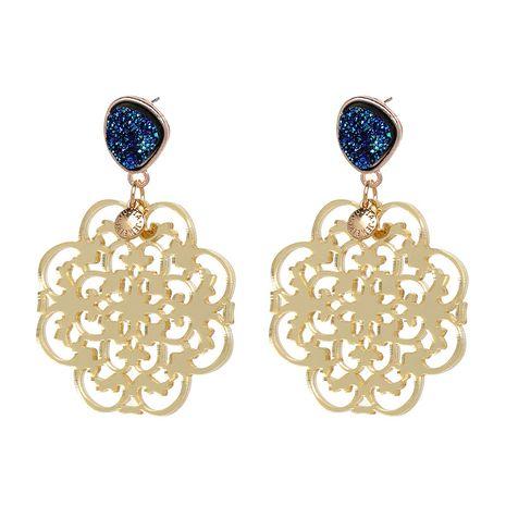 Plastic Bohemia Flowers earring  (blue) NHJJ4969-blue's discount tags