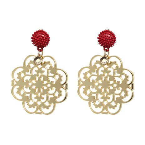 Plastic Fashion Flowers earring  (red) NHJJ4980-red's discount tags