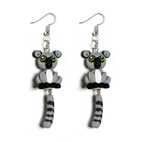 Imitated crystal&CZ Fashion Animal earring  (gray) NHGY2153-gray's discount tags