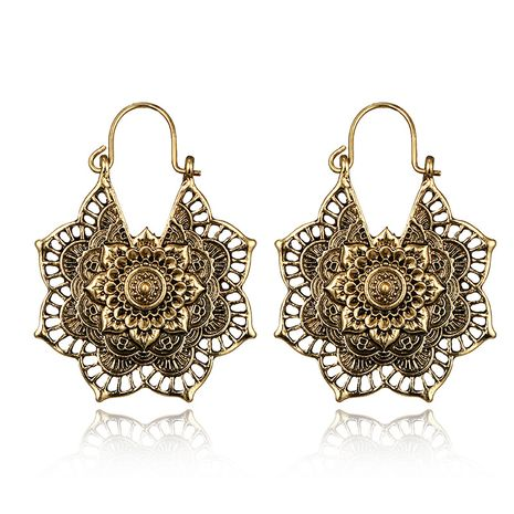 Alloy Vintage Flowers earring  (Alloy) NHGY2167-Alloy's discount tags