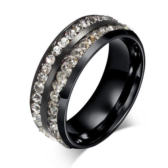 Titanium&Stainless Steel Fashion  Ring  (Black-6) NHIM1068-Black-6