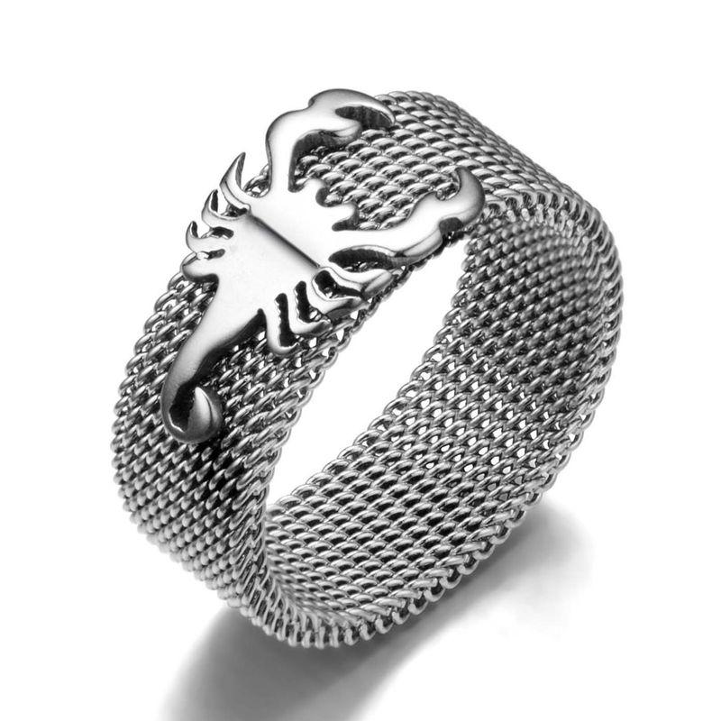 Titanium&Stainless Steel Simple  Ring  (Steel Color-7) NHIM1098-Steel-Color-7