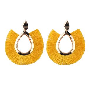 Alloy Fashion Tassel earring  (yellow) NHJQ10497-yellow's discount tags
