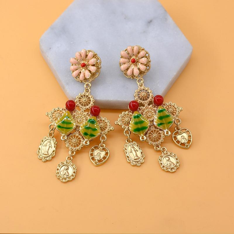 Alloy Vintage Flowers earring  Alloy NHNT0574Alloy