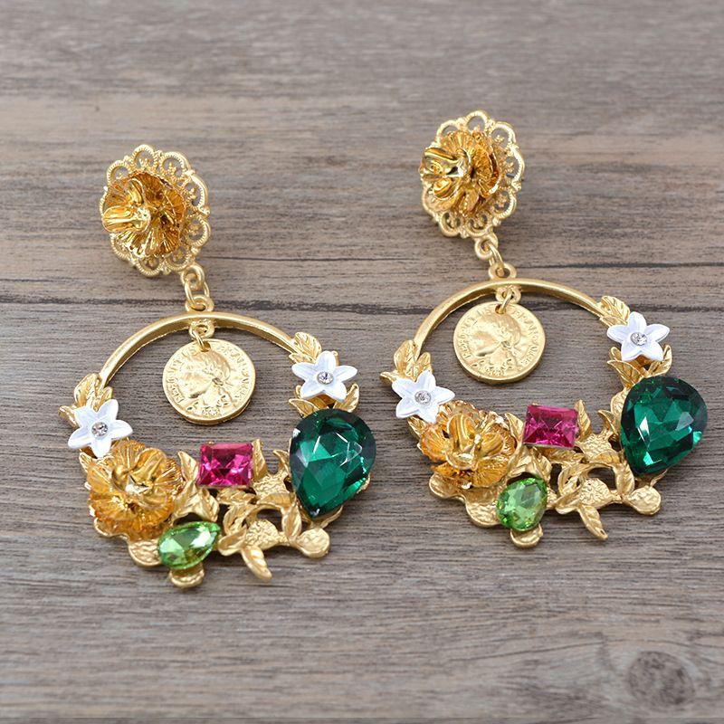Alloy Vintage Flowers earring  Alloy NHNT0579Alloy