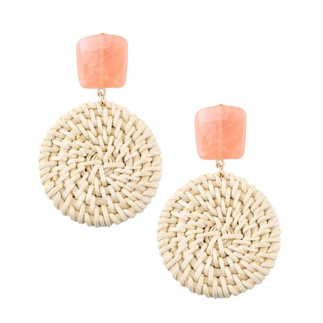 Alloy Korea Geometric earring  (A pink) NHJQ10508-A-pink's discount tags