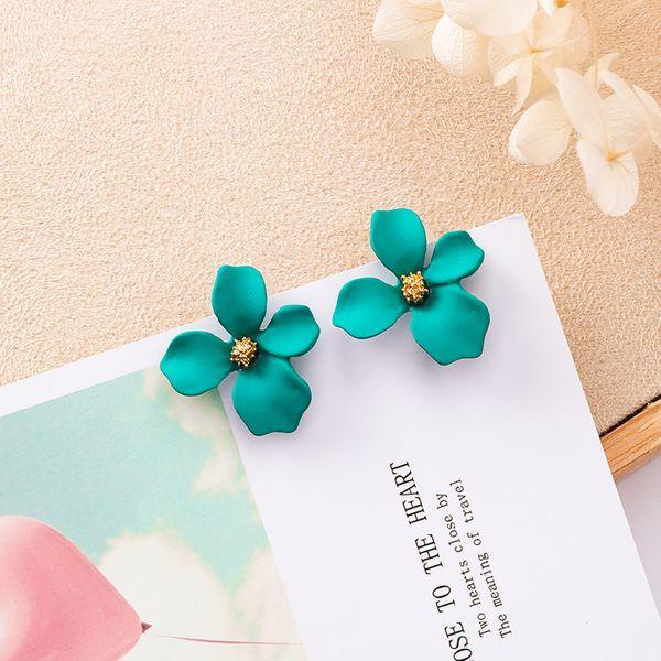 Alloy Korea Flowers earring  (K8316 green) NHMS0847-K8316-green