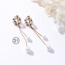 Alloy Korea Flowers earring  1 NHMS10201