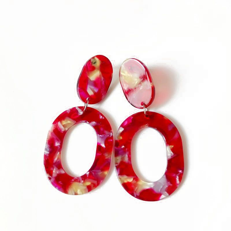 Alloy Fashion  earring  (red) NHOM0687-red