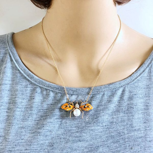 Alloy Fashion  necklace  (yellow) NHOM0701-yellow