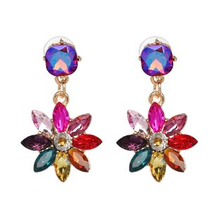Imitated crystal&CZ Fashion Flowers earring  (50990) NHJJ4920-50990's discount tags