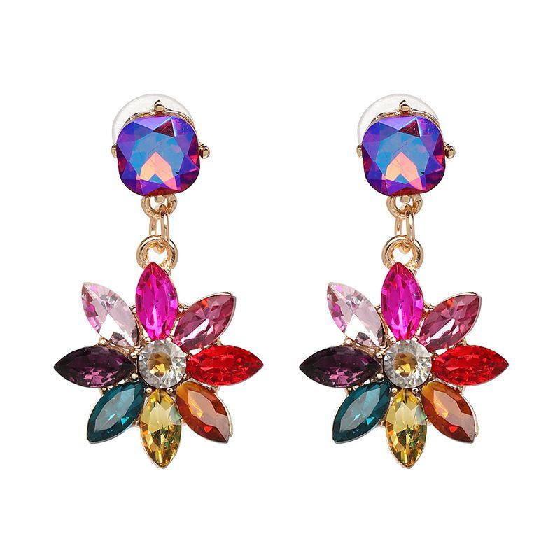 Imitated crystal&CZ Fashion Flowers earring  (50990) NHJJ4920-50990