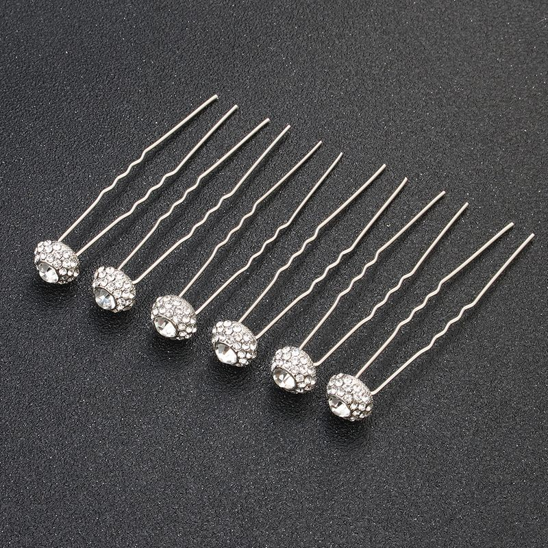 Imitated crystal&CZ Fashion Geometric Hair accessories  (Alloy) NHHS0444-Alloy