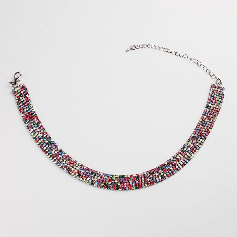 Alloy Fashion Geometric necklace  (AB color rhinestone) NHHS0466-AB-color-rhinestone