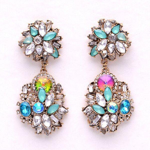 Europe and rhinestone earrings NHJQ2184