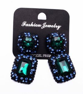 Occident alloy Geometric earring ( green ) NHJQ2526