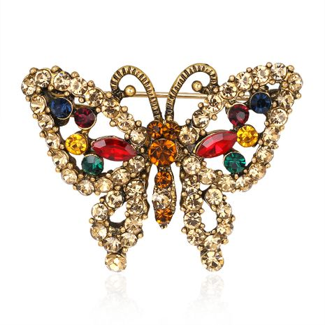 Retro alloy Rhinestone brooch (AG030-A)  NHDR1145's discount tags