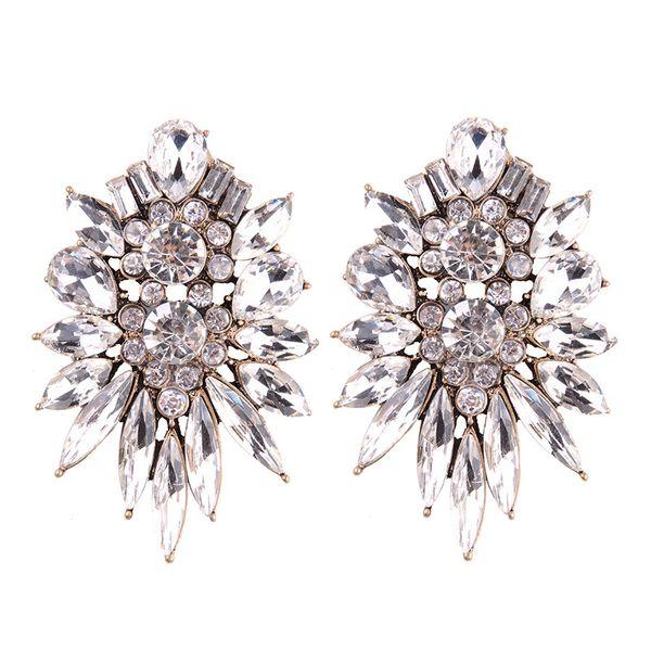 Fashion OL alloy Rhinestone earring (white)  NHJQ8518-white