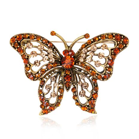 Korean version alloy Rhinestone brooch (AG031-A)  NHDR1882-AG031-A's discount tags