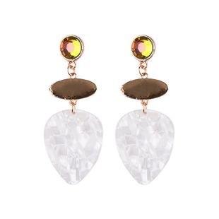 Alloy Fashion Geometric earring  (white) NHJQ10425-white's discount tags