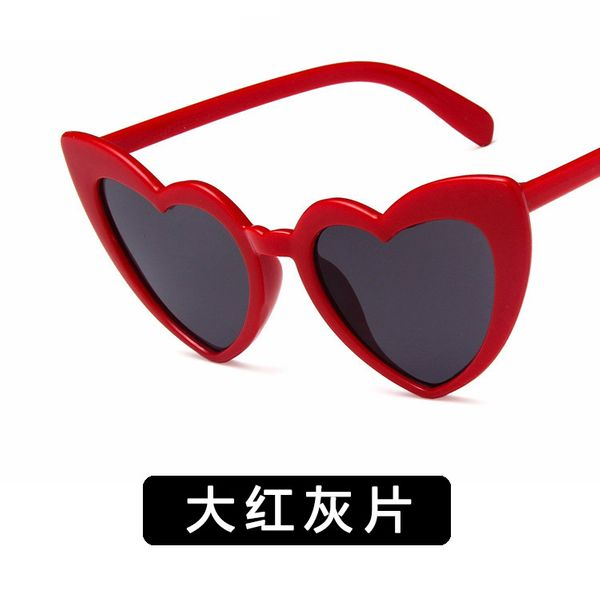 Plastic Fashion  glasses  (Big red ash) NHKD0025-Big-red-ash