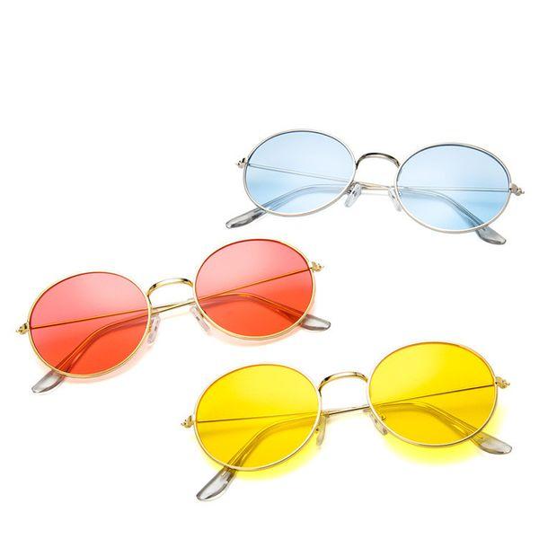 Alloy Vintage  glasses  (Alloy frame transparent yellow) NHKD0029-Alloy-frame-transparent-yellow