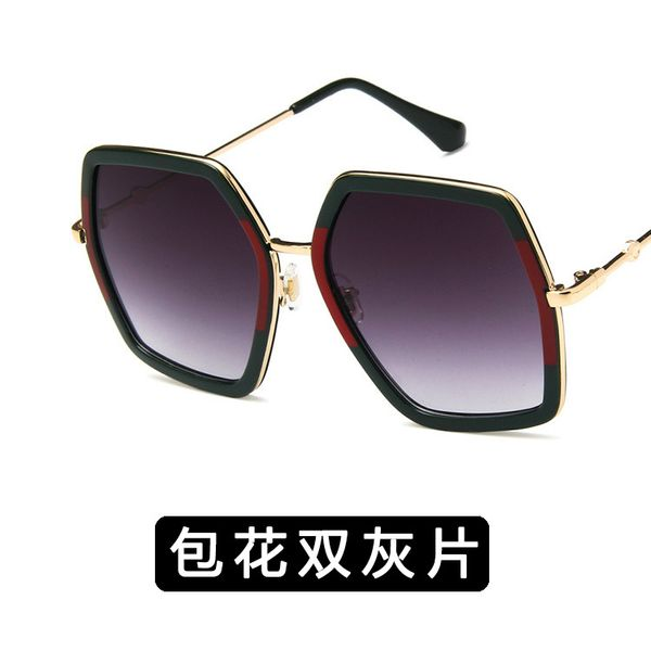 Alloy Fashion  glasses  (Packaged double ash) NHKD0063-Packaged-double-ash