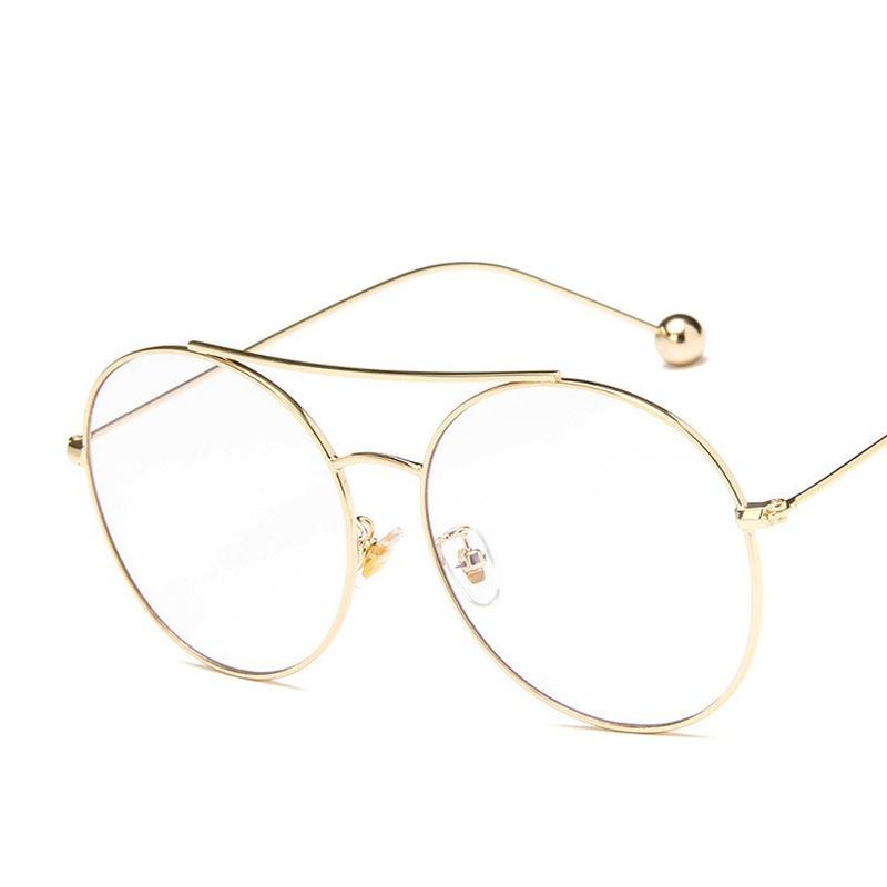 Alloy Fashion  glasses  Alloy frame white flat NHKD0385Alloyframewhiteflat