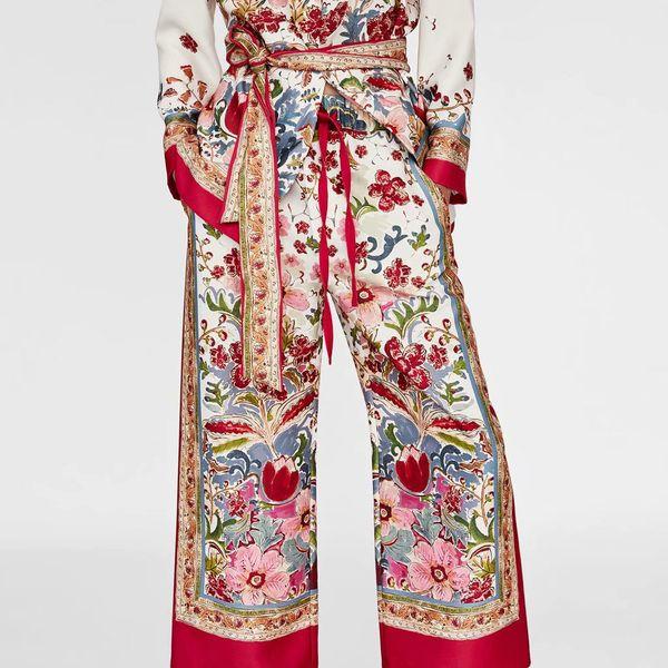 Chiffon Fashion  pants  (Picture color -S) NHAM4253-Picture-color-S
