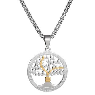 Titanium&Stainless Steel Simple Flowers necklace  (Alloy) NHHF0869-Alloy's discount tags