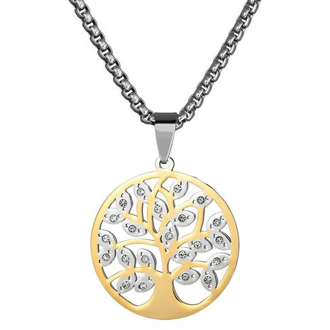 Titanium&Stainless Steel Simple Flowers necklace  (Alloy) NHHF0883-Alloy's discount tags