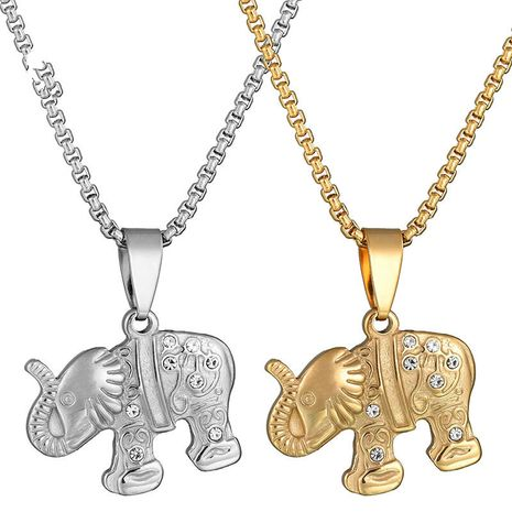Titanium&Stainless Steel Fashion Animal necklace  (Steel color) NHHF0888-Steel-color's discount tags