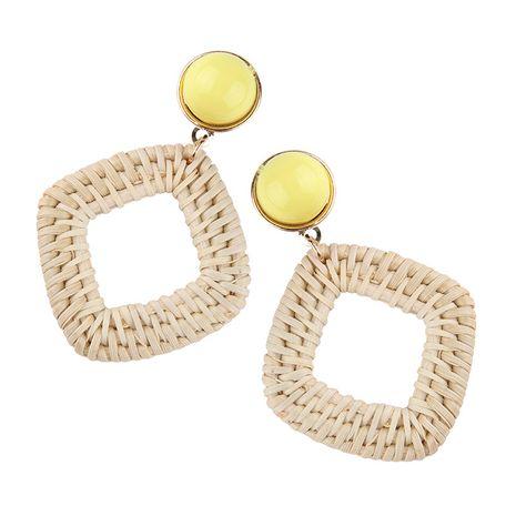 Alloy Bohemia Geometric earring  (yellow) NHJQ10546-yellow's discount tags