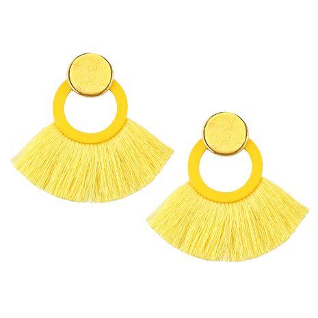 Acrylic Fashion Tassel earring  (yellow) NHJQ10580-yellow's discount tags